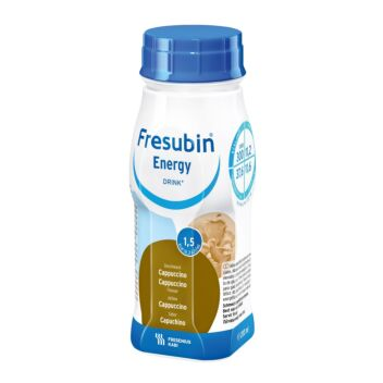 FRESUBIN ENERGY DRINK NESTE, TÄYDENNYSRAVINTOVALMISTE CAPPUCCINO 4 X 200 ML