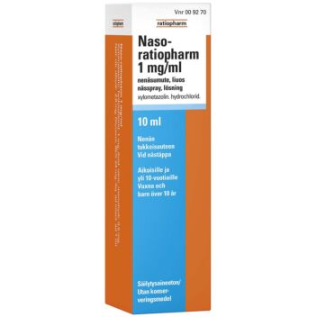 NASO-RATIOPHARM 1 MG/ML NENÄSUMUTE 10 ml