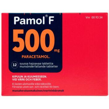 PAMOL F 500 MG SUUSSA HAJOAVA TABLETTI 12 fol