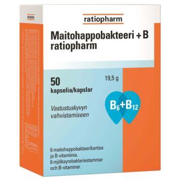 MAITOHAPPOBAKTEERI+B RATIOPHARM KAPS 50 KPL