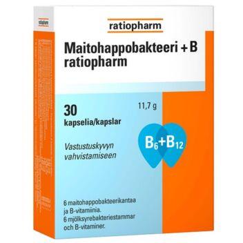 MAITOHAPPOBAKTEERI+B RATIOPHARM KAPS 30 KPL
