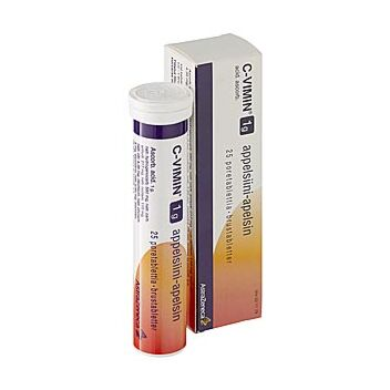 C-VIMIN 1 G PORETABLETTI APPELSIINI 25 kpl