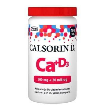 CALSORIN 500MG+D3 20MIKROG TABL 100 KPL