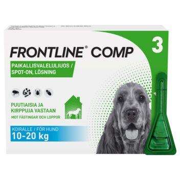 FRONTLINE COMP 134MG/120,6MG VET PAIKALLISVALELULIUOS 3x1,34 ml