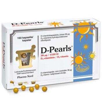 D-PEARLS 38 MIKROG KAPS 160 KPL