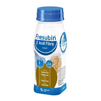 FRESUBIN 2 KCAL FIBRE DRINK CAPPUCCINO NESTE, TÄYDENNYSRAVINTOVALMISTE CAPPUCCINO 4 X 200 ML