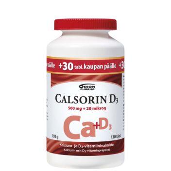 CALSORIN 500MG+D3 20MIKROG TABL 130 KPL