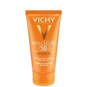 VICHY IDEAL SOLEIL MATTIFYING FACE FLUID DRY TOUCH SPF50 50 ML