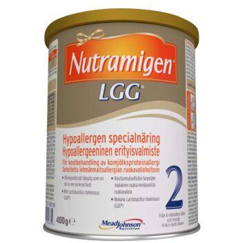 NUTRAMIGEN 2 LGG JAUHE, IMEVÄISTEN/LASTEN RAVINTOVALMISTE 400 G
