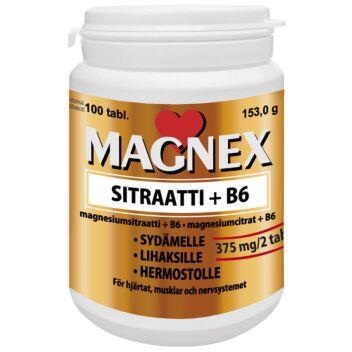 MAGNEX SITRAATTI 375 MG+B6 TABL 100 KPL