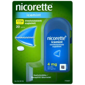 NICORETTE ICEMINT 4 MG IMESKELYTABLETTI 20 kpl