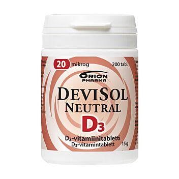 DEVISOL NEUTRAL 20 MIKROG TABLETTI 200 KPL