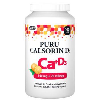 PURU CALSORIN D3 500MG+20MIKROG PURUTABL 100 KPL