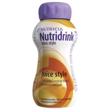 NUTRIDRINK JUICE STYLE APPELSIINI NESTE, TÄYDENNYSRAVINTOVALMISTE 4 X 200 ML