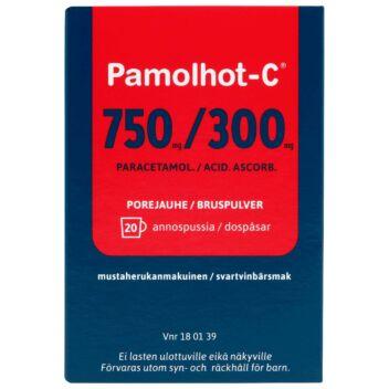 PAMOLHOT-C 750/300 MG POREJAUHE 20 kpl