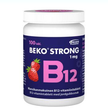 BEKO STRONG B12 1 MG MANSIKKA PURUTABL 100 KPL