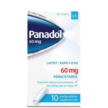 PANADOL 60 MG PERÄPUIKKO 10 kpl