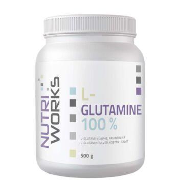 NUTRI WORKS L-GLUTAMINE 100% MAUSTAMATON 500 G