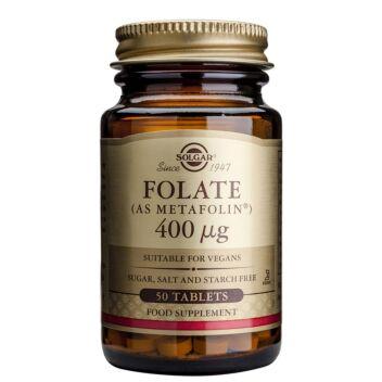 SOLGAR FOLAATTI (METAFOLIN) 400 MIKROG TABL 50 KPL