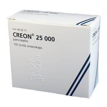 CREON 25 000 OHUTSUOLESSA HAJOAVA KAPSELI 2 x 50 kpl
