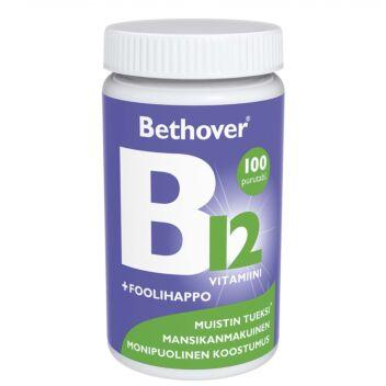 BETHOVER B12-VITAMIINI+FOOLIHAPPO TABL 100 KPL