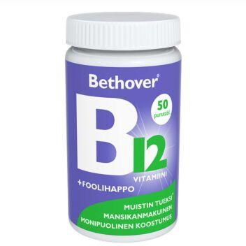 BETHOVER B12-VITAMIINI+FOOLIHAPPO TABL 50 KPL