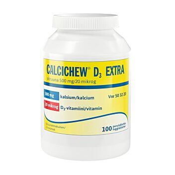 CALCICHEW D3 EXTRA SITRUUNA 500MG/20MCG PURUTABLETTI 100 kpl