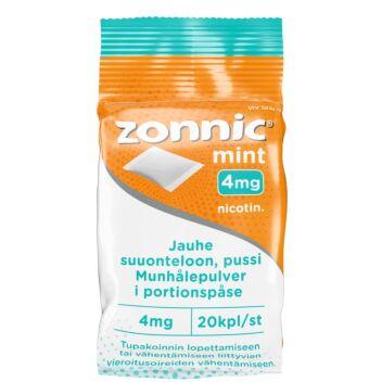 ZONNIC MINT 4 MG JAUHE SUUONTELOON, PUSSI 20 kpl