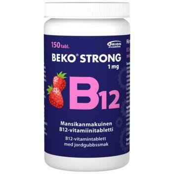 BEKO STRONG B12 1 MG MANSIKKA PURUTABL 150 KPL