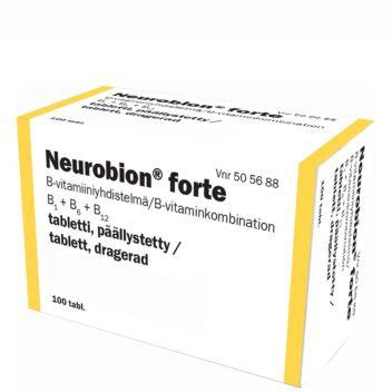 NEUROBION FORTE PÄÄLLYSTETTY TABLETTI 100 kpl