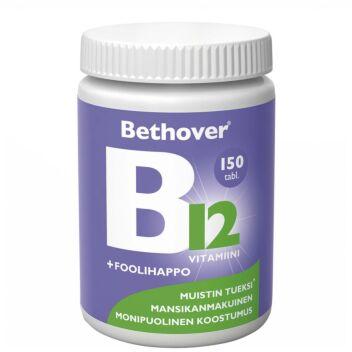 BETHOVER B12-VITAMIINI+FOOLIHAPPO TABL 150 KPL