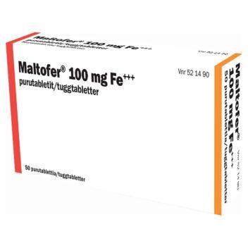 MALTOFER 100 MG PURUTABLETTI 50 fol