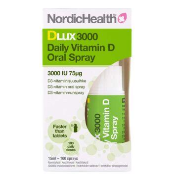 NORDIC HEALTH DLUX 3000 D3-SUUSUIHKE 75 MIKROG 15 ML