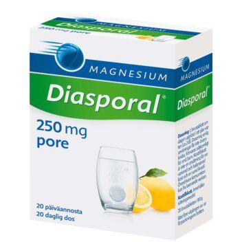 DIASPORAL MAGNESIUM AKTIV 250 PORETABLETTI 20 KPL