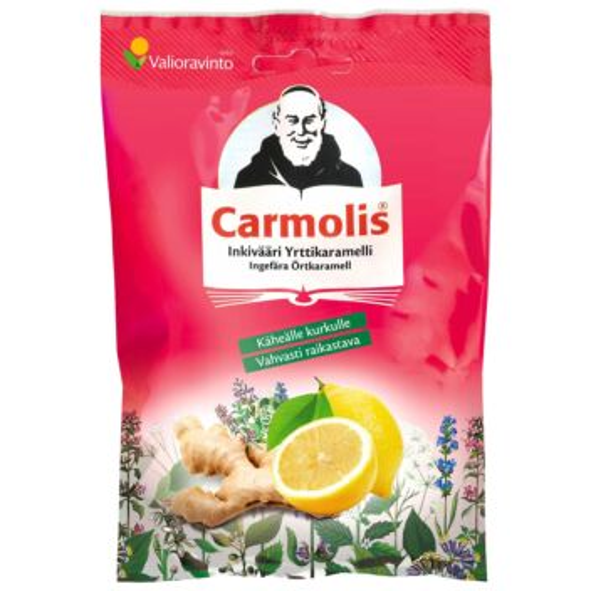 CARMOLIS YRTTIKARAMELLI INKIVÄÄRI 72 G