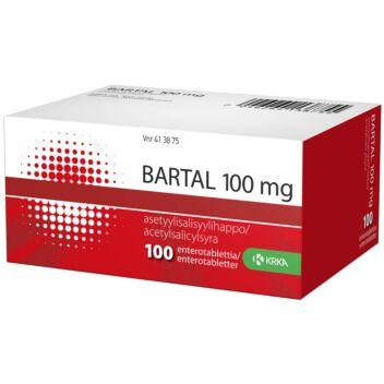 BARTAL 100 MG OHUTSUOLESSA HAJOAVA TABLETTI 100 fol