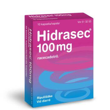 HIDRASEC 100 MG KOVA KAPSELI 10 fol