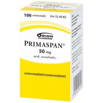 PRIMASPAN 50 MG OHUTSUOLESSA HAJOAVA TABLETTI 100 kpl