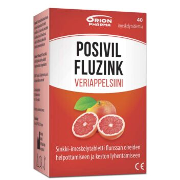 POSIVIL FLUZINK VERIAPPELSIINI IMESKELYTABL 40 KPL