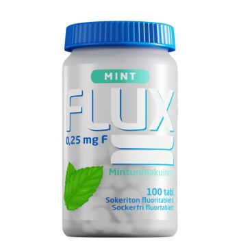 FLUX MINT FLUORITABLETTI IMESKELYTABL 100 KPL
