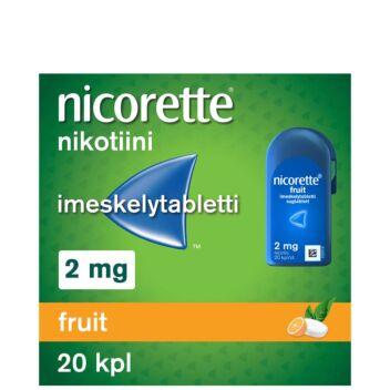 NICORETTE FRUIT 2 MG IMESKELYTABLETTI 20 kpl