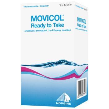 MOVICOL READY TO TAKE ORAALILIUOS, ANNOSPUSSI 10 kpl