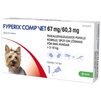 FYPERIX COMP VET 67MG/60,3MG PAIKALLISVALELULIUOS 0,67 ml