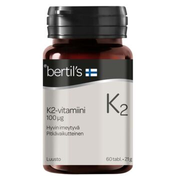 BERTIL'S VITAMIN K2-VITAMIINI TABL 60 KPL
