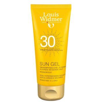 LOUIS WIDMER SUN GEL SPF30 HAJUSTEETON 100 ML