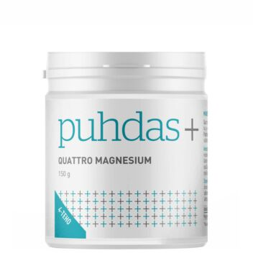 PUHDAS+ QUATTRO MAGNESIUM JAUHE 150 G