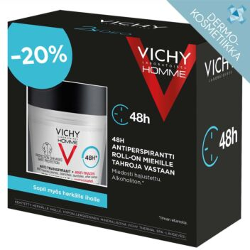 VICHY HOMME 48H ANTIPERSPIRANT ANTI-STAINS ROLL-ON 2X50 ML