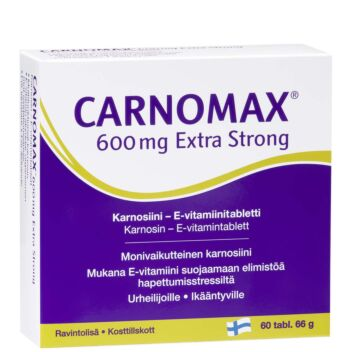 CARNOMAX 600 MG EXTRA STRONG TABLETTI 60 KPL