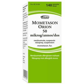 MOMETASON ORION 50 MIKROG/ANNOS NENÄSUMUTE 140 annosta