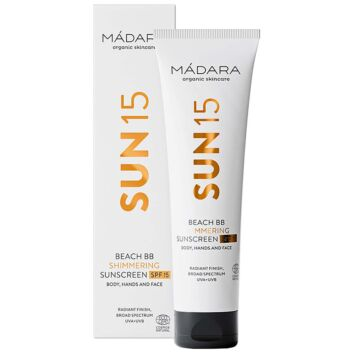 MADARA SUN BEACH BB SHIMMERING SUNSCREEN SPF15 BODY AND HANDS 100 ML